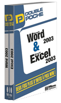 Word 2003 et Excel 2003 - Collection Double Poche - Auteurs : Eric Fagault, Dominique Lerond et Alain Mathieu - Nombre de pages : 832 pages - ISBN : 978-2-7429-6755-1 - EAN : 9782742967551 - Référence Micro Application : 7755